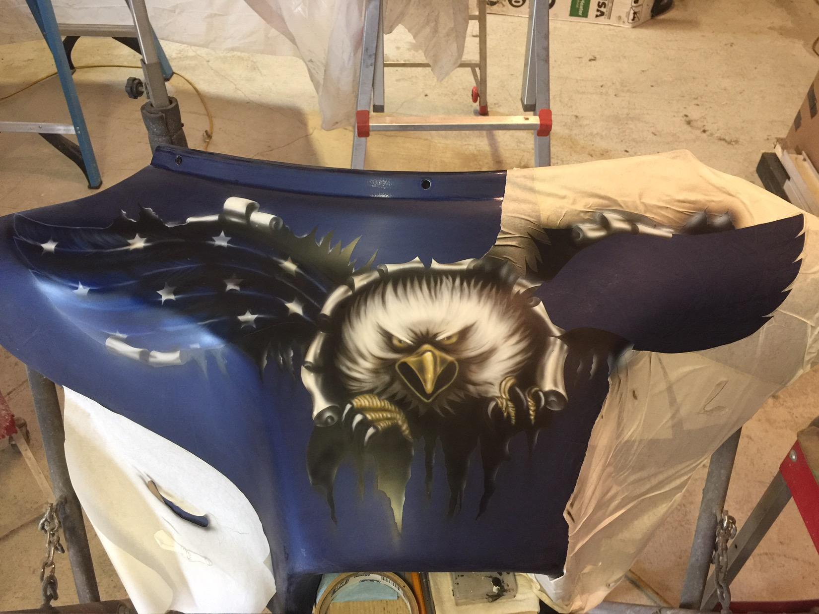 patriotic eagle mural